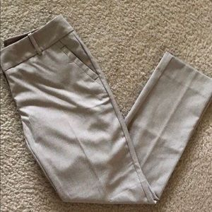 The limited beige patterned ankle work pant size 2